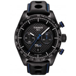 Tissot Mens PRS516 Black Automatic Strap Watch T100.427.36.201.00