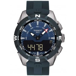 Tissot Mens T-Touch Solar II Blue Watch T1104204704100
