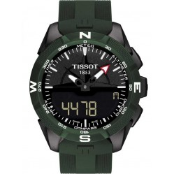 Tissot Mens T-Touch Solar II Green Watch T1104204705100