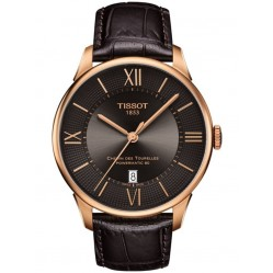 Tissot Mens T-Classic Chemin Des Tourelles Powermatic Brown Watch T099.407.36.448.00