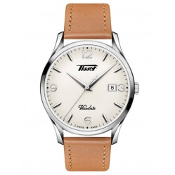 Tissot Mens Heritage Visodate Cream Dial Brown Leather Strap Watch T118.410.16.277.00