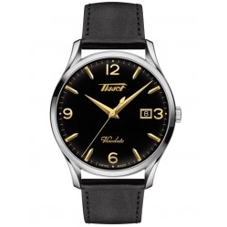Tissot Mens Heritage Visodate Black Dial Black Leather Strap Watch T118.410.16.057.01