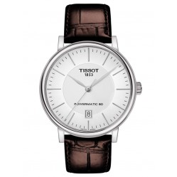 Tissot Mens T-Classic Carson Premium Powermatic 80 Brown Leather Strap Watch T122.407.16.031.00