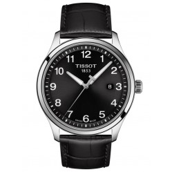 Tissot Mens T-Sport Gent XL Classic Black Dial Leather Strap Watch T116.410.16.057.00