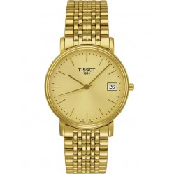 Tissot Mens T-Classic Desire Gold Tone Watch T52.5.481.21