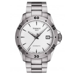 Tissot Mens T-Sport V8 Swissmatic White Dial Bracelet Watch T106.407.11.031.01