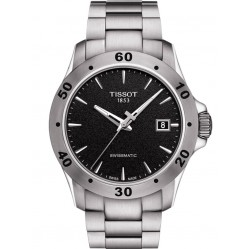Tissot Mens V8 Swissmatic Black Dial Bracelet Watch T106.407.11.051.00