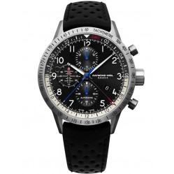 Raymond Weil Mens Freelancer Titanium Pilot Strap Watch 7754-TIC-05209