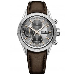 Raymond Weil Mens Freelancer Chronograph Brown Leather Strap Watch 7731-SC2065655