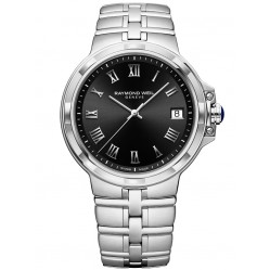 Raymond Weil Mens Parsifal Classic Black Dial Bracelet Watch 5580-ST-00208
