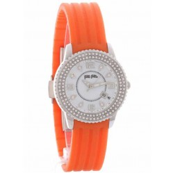 Folli Follie Ladies Orange Strap Watch 6015.0921