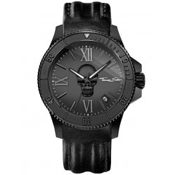 Thomas Sabo Mens Rebel Icon Leather Strap Watch WA0278-213-203-44 MM