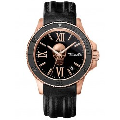 Thomas Sabo Mens Rebel Icon Rose Gold toned Strap Watch WA0279-213-203-44 MM