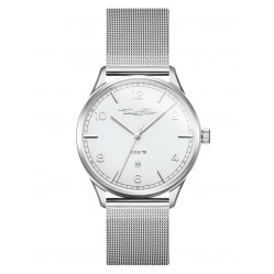 Thomas Sabo Code TS Stainless Steel White Dial Mesh Bracelet Watch WA0338-201-202-40MM