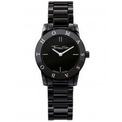 Thomas Sabo Ladies Black Ceramic Watch WA0154-220-203
