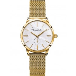 Thomas Sabo Ladies Glam And Soul Gold Tone Mesh Bracelet Watch WA0302-264-213-33MM