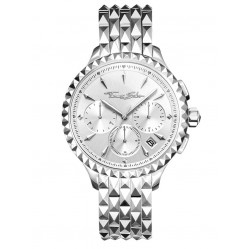 Thomas Sabo Ladies Rebel At Heart Silver Dial Chronograph Bracelet Watch WA0345-201-201-38MM
