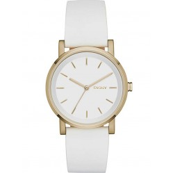 DKNY Ladies Soho White Leather Strap Watch NY2340