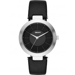 DKNY Ladies Stanhope Black Leather Strap Watch NY2465