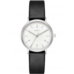 DKNY Ladies Minetta Black Leather Strap Watch NY2506