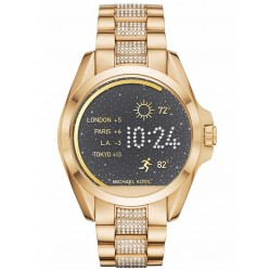Michael Kors Ladies Access Bradshaw Gold Plated Cubic Zirconia Smartwatch MKT5002