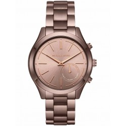Michael Kors Access Brown-IP Slim Runway Hybrid Smart Watch MKT4019
