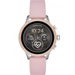 Michael Kors Access Ladies Runway Stainless Steel Pink Rubber Strap Smartwatch MKT5055