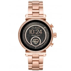 Michael Kors Ladies Access Sofie Gen 4 Rose Gold Plated Crystal Bezel Smartwatch MKT5063