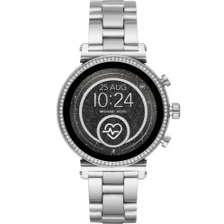 Michael Kors Ladies Access Sofie Gen 4 Stainless Steel Crystal Bezel Smartwatch MKT5061