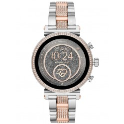 Michael Kors Ladies Access Sofie Gen 4 Two Tone Crystal Bezel Smartwatch MKT5064