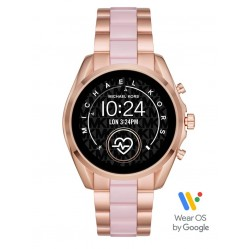 Michael Kors Ladies Bradshaw 2 Rose Gold Plated Pink Bracelet Smartwatch MKT5090