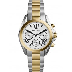 Michael Kors Steel Gold Plated Two Tone Chronograph Dial Bracelet Watch MK5912