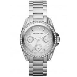 Michael Kors Ladies Blair Silver Chronograph Watch MK5612