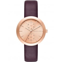 Michael Kors Ladies Garner Leather Strap Watch MK2575