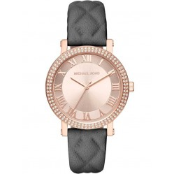 Michael Kors Ladies Norie Rose Gold Plated Strap Watch MK2619