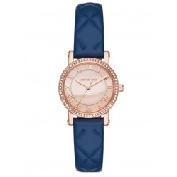 Michael Kors Ladies Petite Norie Rose Gold-plated Strap Watch MK2696