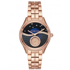 Michael Kors Ladies Lauryn Rose Gold-plated Bracelet Watch MK3723