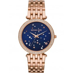 Michael Kors Ladies Darci Rose Tone Celestial Bracelet Watch MK3728