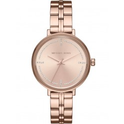 Michael Kors Ladies Rose Gold Plated Bridgette Watch MK3793