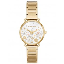 Michael Kors Mini Portia Gold Tone Bracelet Watch MK3840