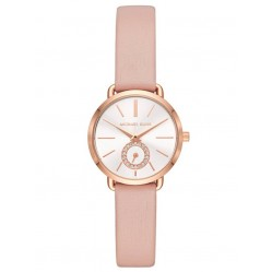 Michael Kors Mini Portia Rose Tone Pink Strap Watch MK2735
