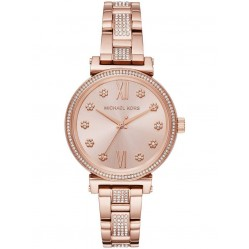 Michael Kors Ladies Mini Sofie Rose Gold Plated Bracelet Watch MK3882