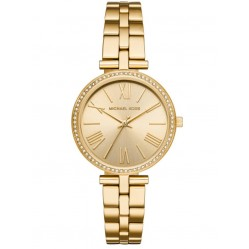 Michael Kors Ladies Maci Gold-Tone Narrow Bracelet Watch MK3903