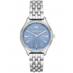 Michael Kors Ladies Lexington Stainless Steel Blue Dial Bracelet Watch MK6639