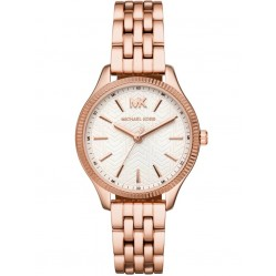 Michael Kors Ladies Lexington Rose Gold Plated Cream Dial Bracelet Watch MK6641