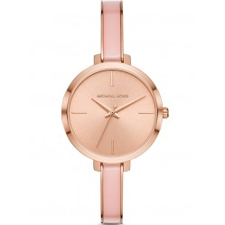 Michael Kors Ladies Jaryn Rose Gold Plated Pink Bracelet Watch MK4343
