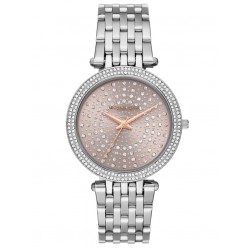Michael Kors Ladies Darci Celestial Pave Pink Dial Stainless Steel Bracelet Watch MK4407