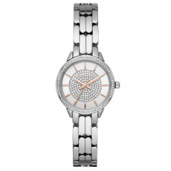 Michael Kors Ladies Allie Crystal Dial Stainless Steel Bracelet Watch MK4411