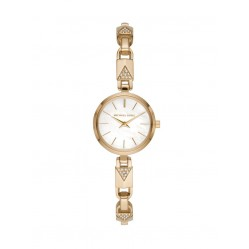 Michael Kors Ladies Jaryn Mercer Gold Tone Padlock Bracelet Watch MK4439