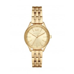 Michael Kors Ladies Lexington Pave Gold Tone Bracelet Watch MK6739